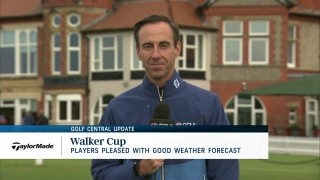 Golf Central Update: Weather shouldn't be an issue at Walker Cup