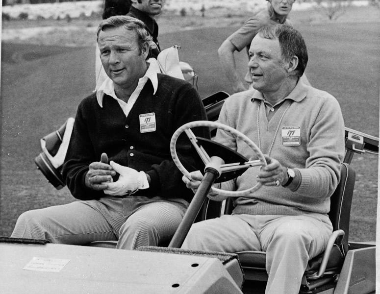 Arnold Palmer and Frank Sinatra