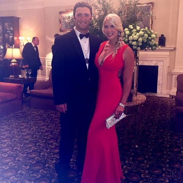 Jon Rahm and Kelley Cahill