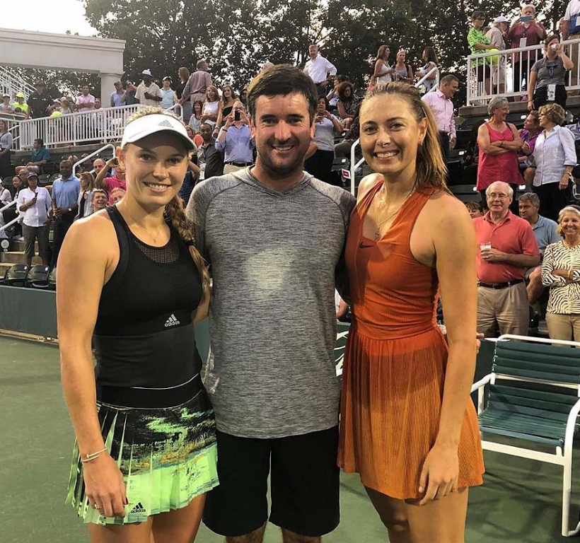 Bubba Watson, Caroline Wozniacki and Maria Sharapova
